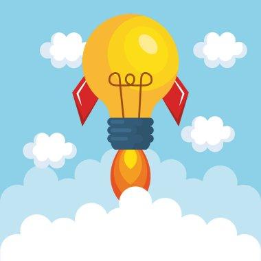 bulb light rocket start up