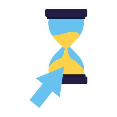 business hourglass and arrow