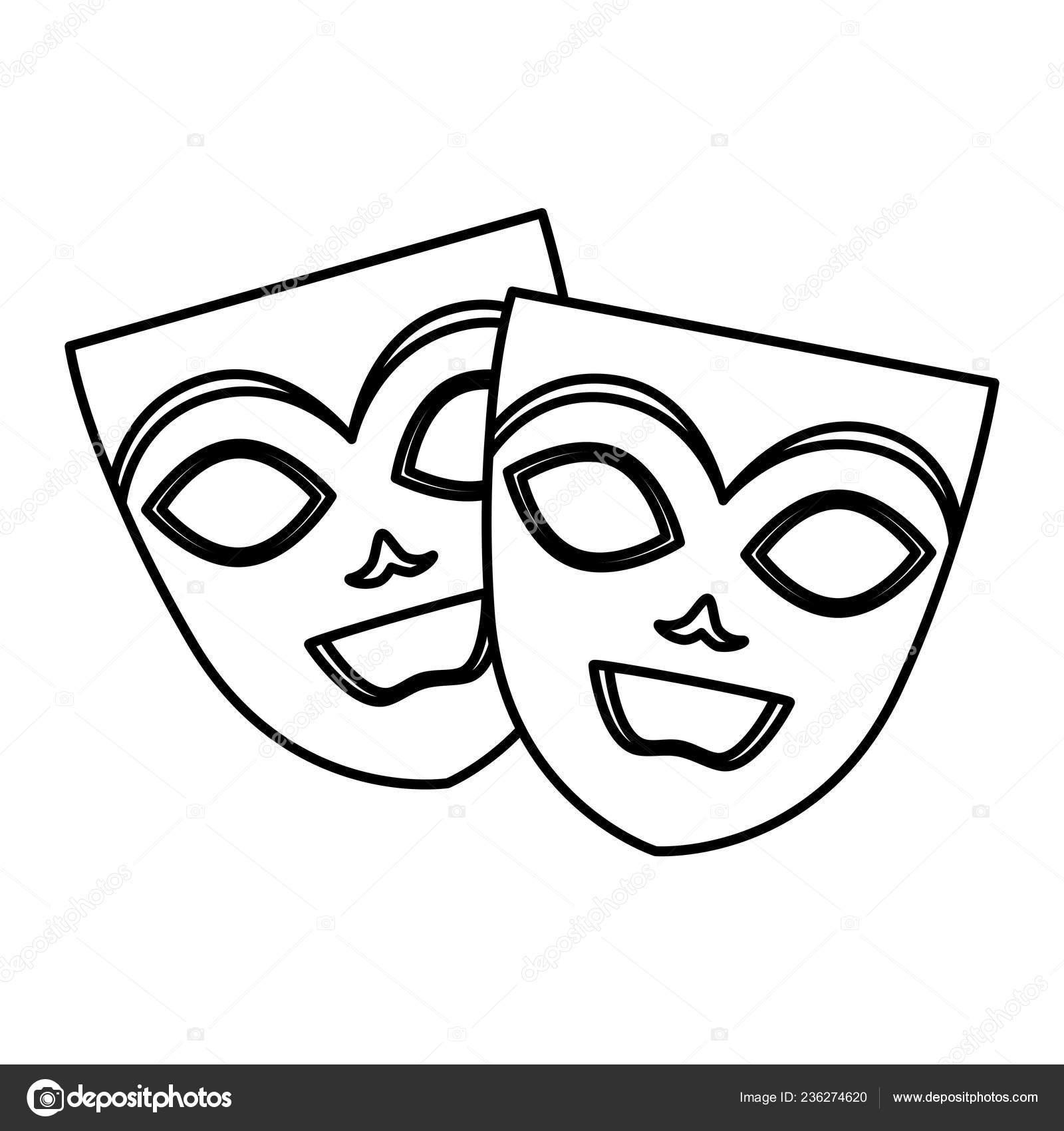 máscaras de teatro y carnaval — Archivo Imágenes Vectoriales ... 082e46c748f