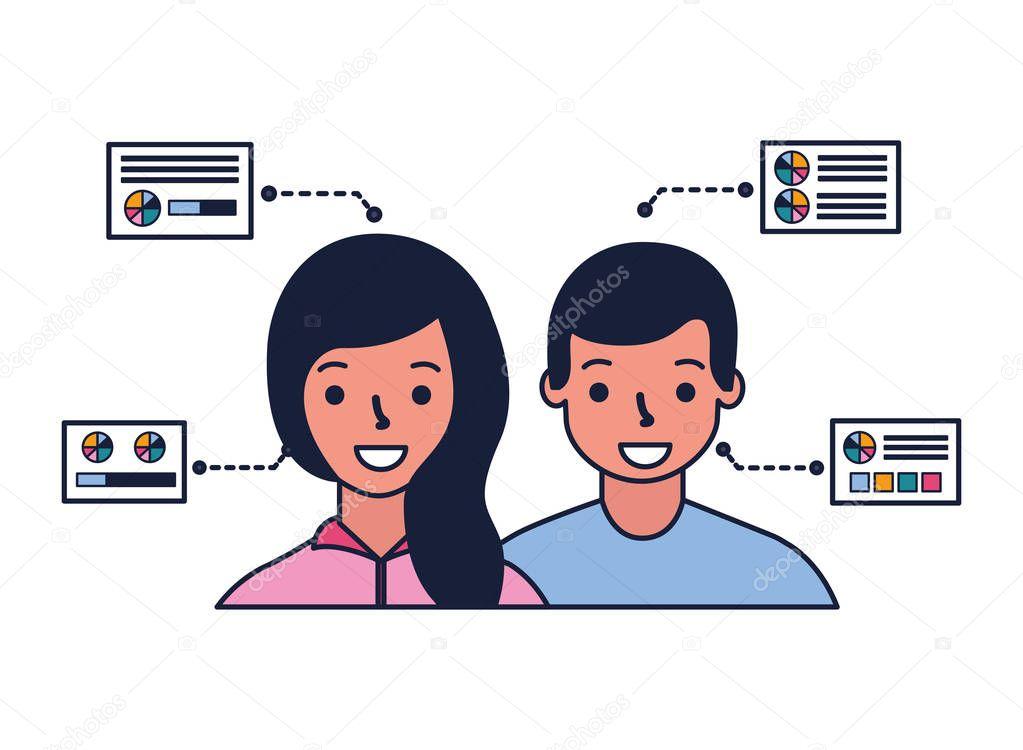 man and woman biometric process technology