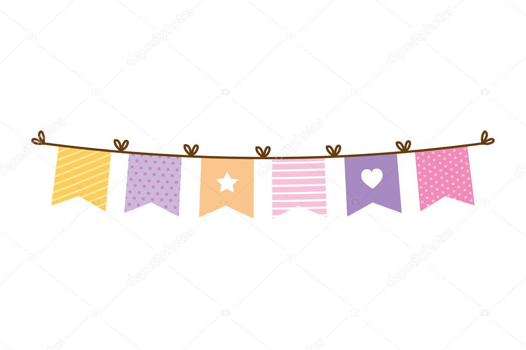 garlands party hanging icon