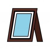 portré kép elszigetelt ikon-vektoros illusztráció tervezés