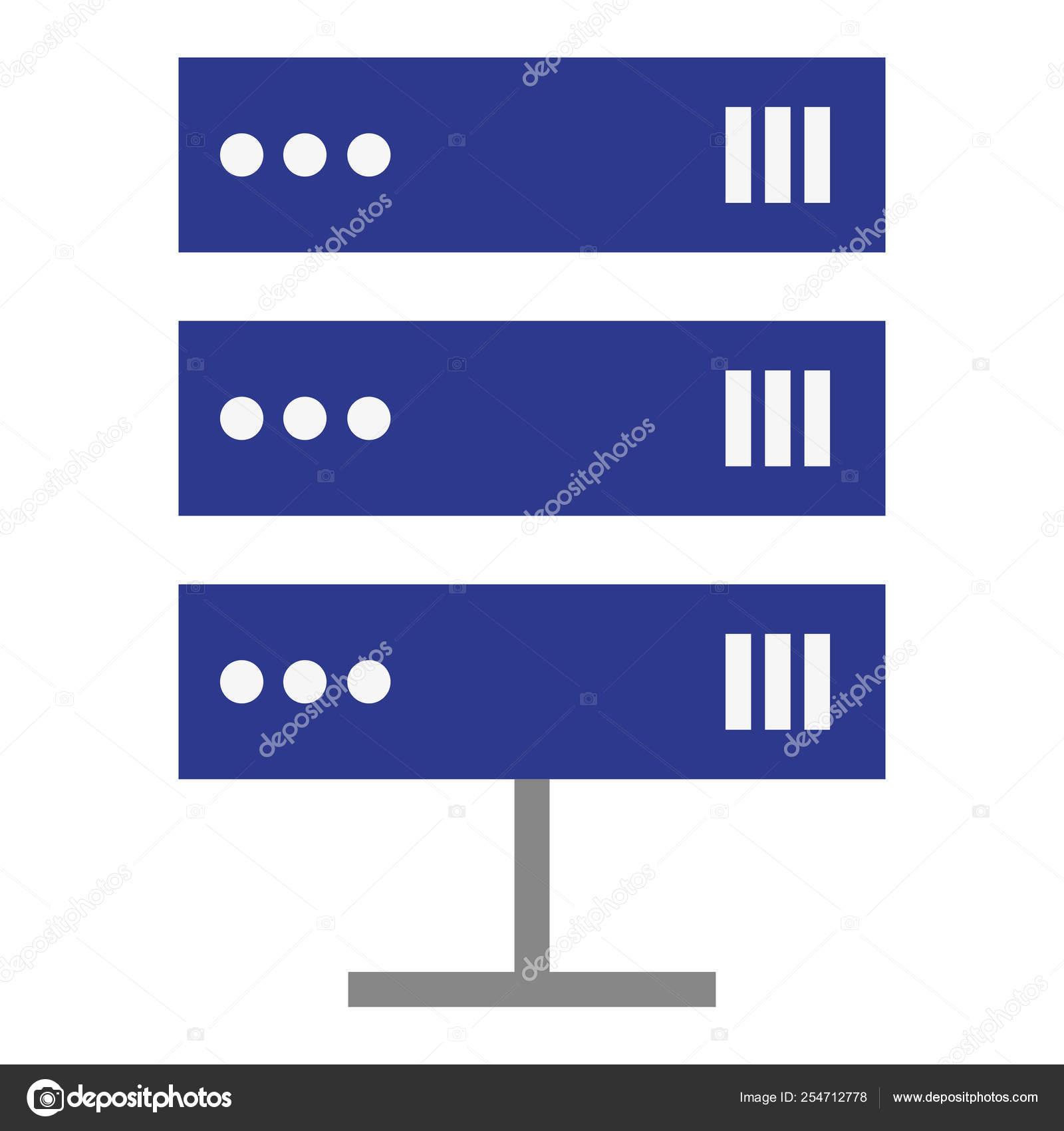 data center server icon — Stock Vector © yupiramos #254712778