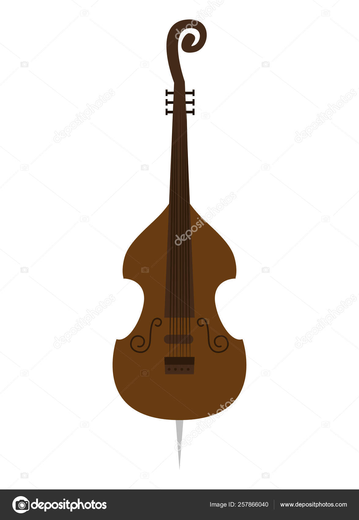 Icono De Instrumento Musical Cello Vector De Stock