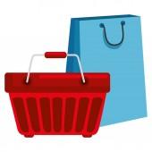 bevásárlótáska kosárral