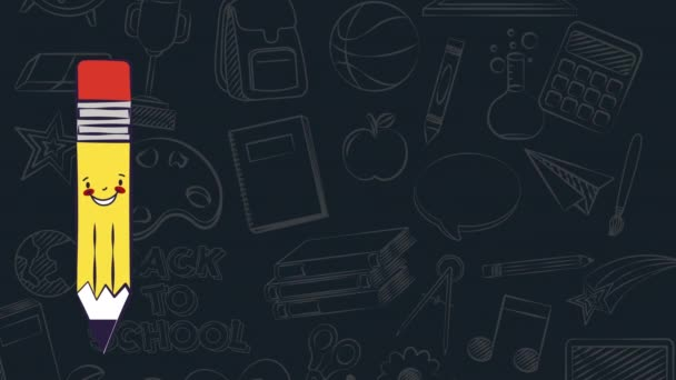 Back to school animation 4k