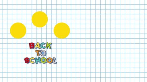 Vissza az iskolába video animáció