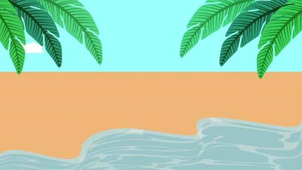 letní čas mořské scény