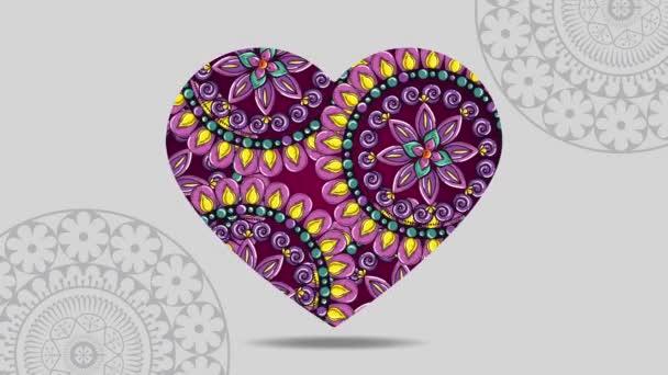 etnické srdce s Mandal bohémské stylem
