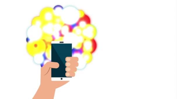 Smartphone mit Social-Media-Technologie