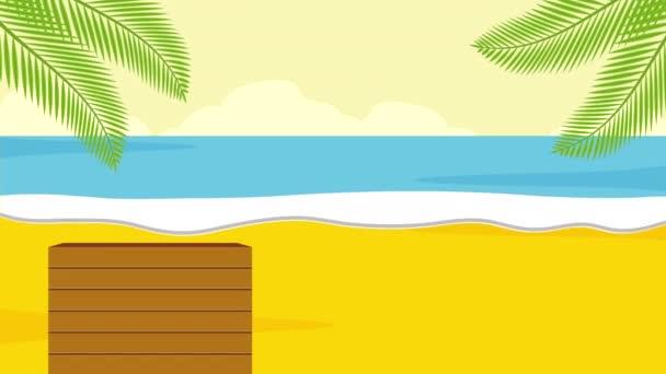 nyári idő vakáció, 4k videó animáció