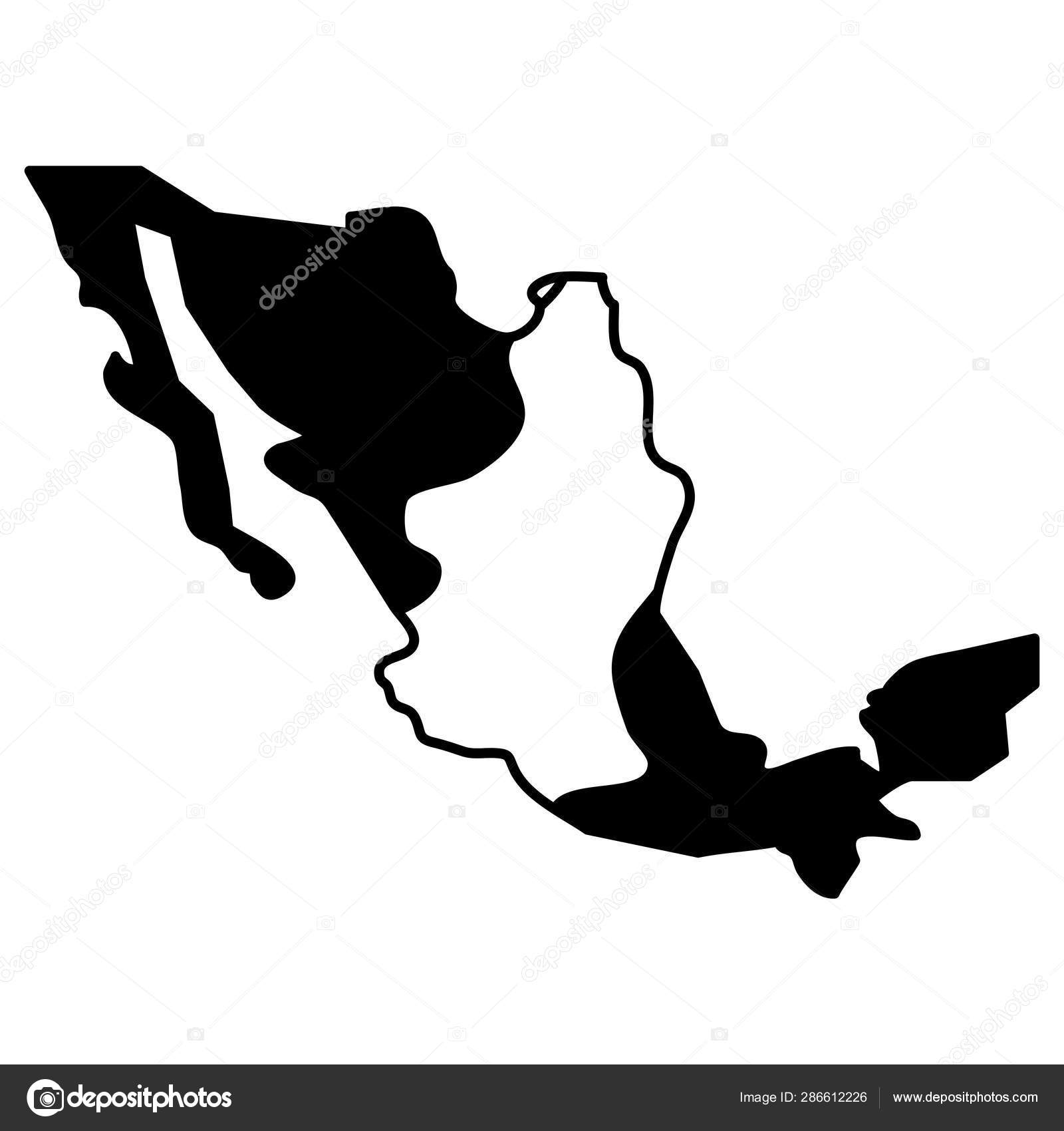 Mexico map geography isolated icon — Stock Vector ...