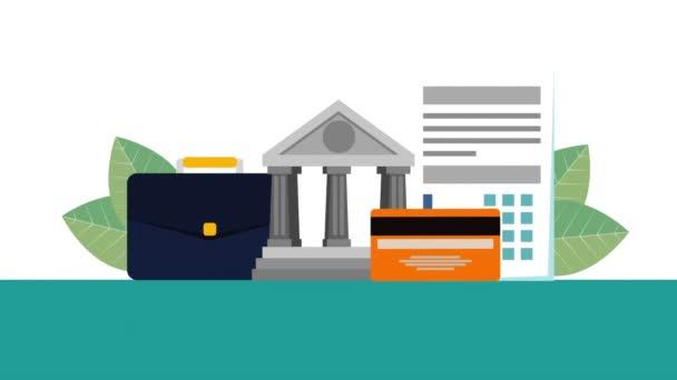 Bank épület pénzügyi üzleti HD