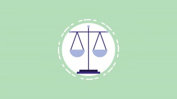 scale balance equality video animation