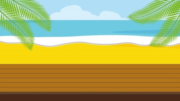 letní čas dovolené, 4k video animace