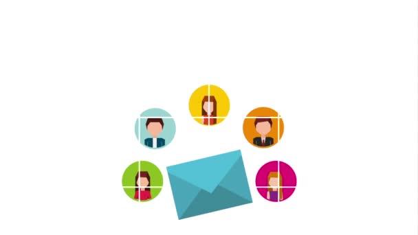 email sociální média marketing animace