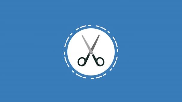 Ollós műtét orvosi eszköz animáció