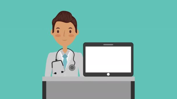 professional doctor medical character animation