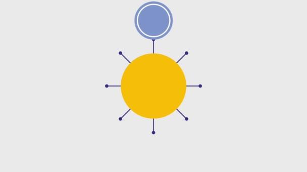 diagram szervező kör elem üres sablon