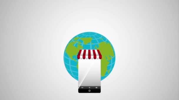 elektronická obchodní technlogie s smartphone