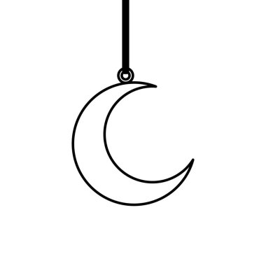 ramadan kareem moon hanging decoration
