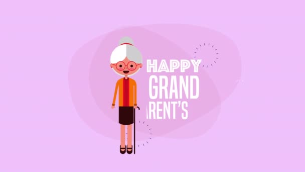 happy grandparents day card with grandmother