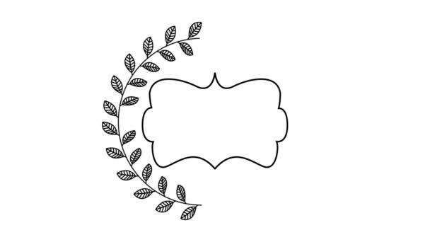 elegantní rám s věnce Video animace