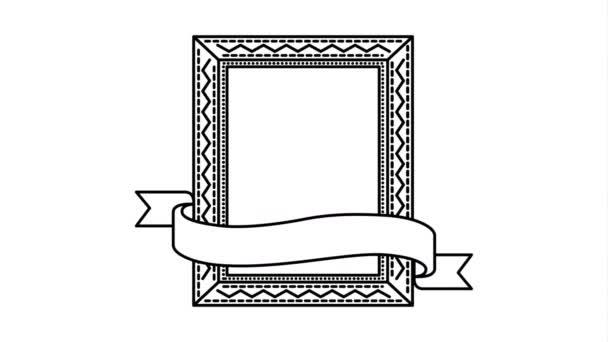 Elegantní čtvercový rámeček s animací videa na pásu karet