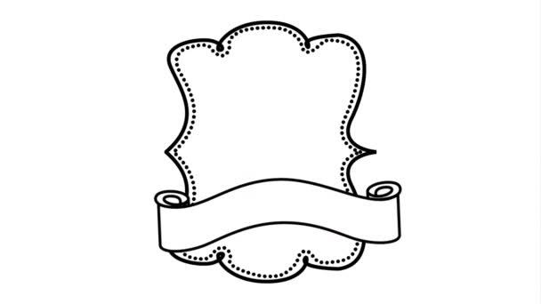 elegantní rámec s animací videa na pásu karet