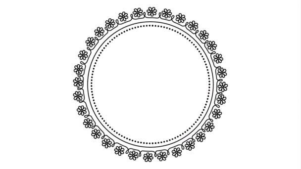 elegantní kruhový snímek video animace