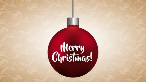 veselý vánoční pozdrav s kuličkou