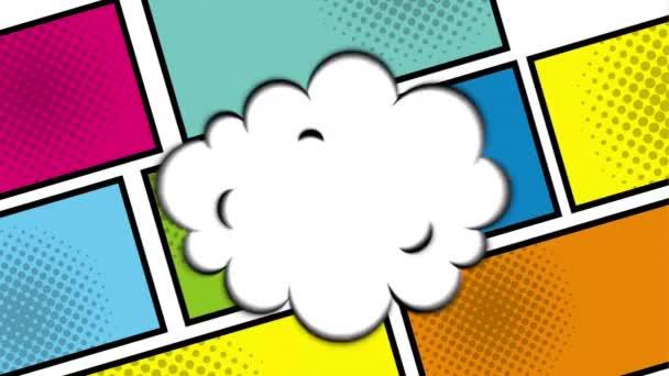 čtverečky barvy a boomb rozpad pop umělecký styl animace