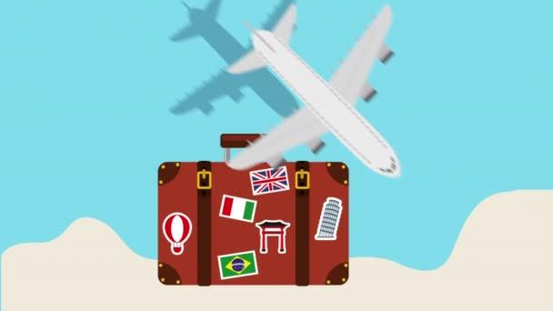 kufr s letmou pro létání letadlem