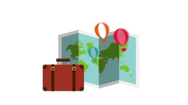 kufřík s animací s nastavením cestovních položek