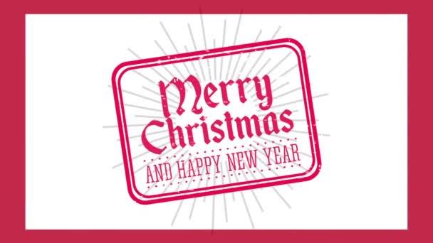 Happy Merry karácsonyi pecsét pecsét