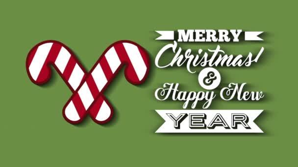 Veselé Vánoce Vánoční přání s sladkých kanálů