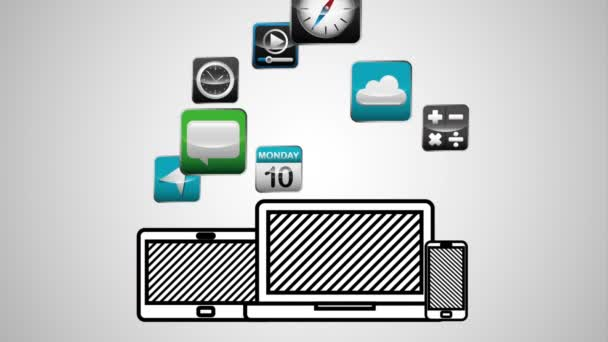 social media marketing with technology device