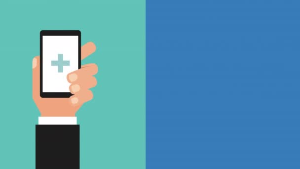 rukou smartphone a lékařské aplikace