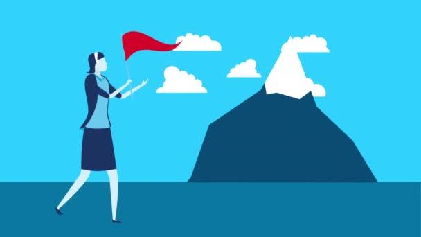 Geschäftsfrau mit Erfolgscharakter