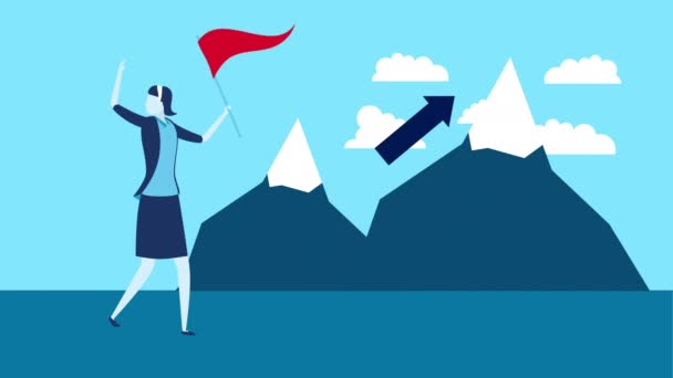 podnikatelka s úspěchem hory charakter