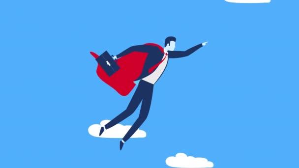 Geschäftsmann Arbeiter Held fliegenden Charakter