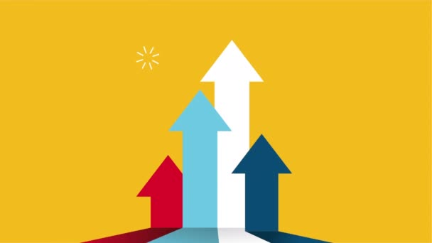 statistics arrows bars success animation