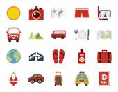 Izolovaný design vektoru sady cestovních ikon