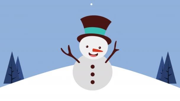 Boldog karácsonyt kártya hóember