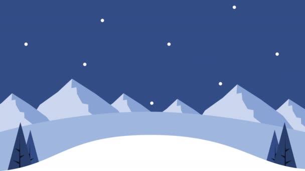 Šťastné veselé vánoční přání se sněhovou scénou