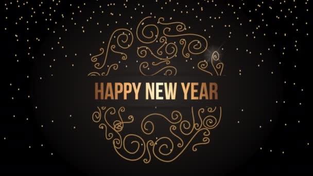 boldog új évet animáció arany hópehely