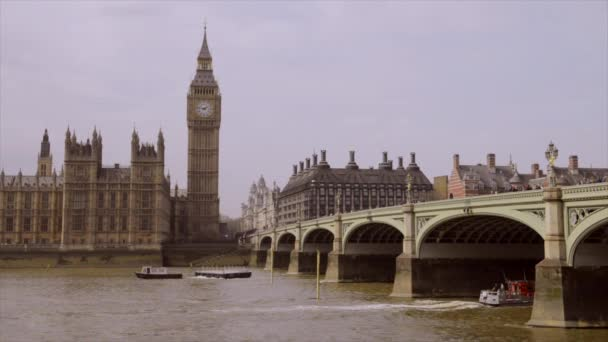 Big ben a westminster most v soumraku, Londýn, Velká Británie