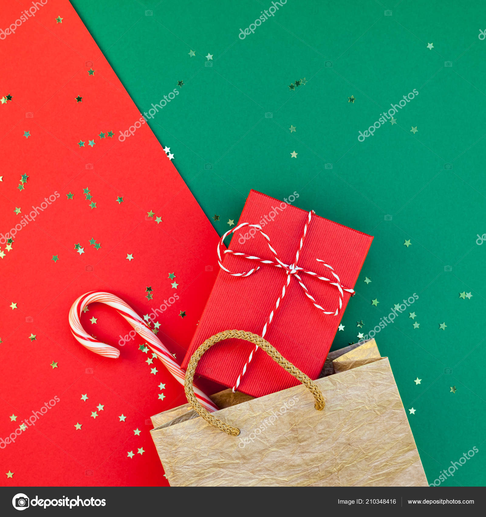 New Year Christmas Presents Preparation Diy Flat Lay Top