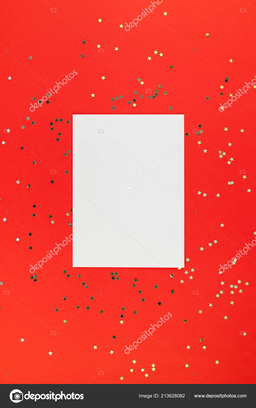 Christmas Greetings Letter.Creative New Year Christmas Greetings Letter Mockup Flat Lay