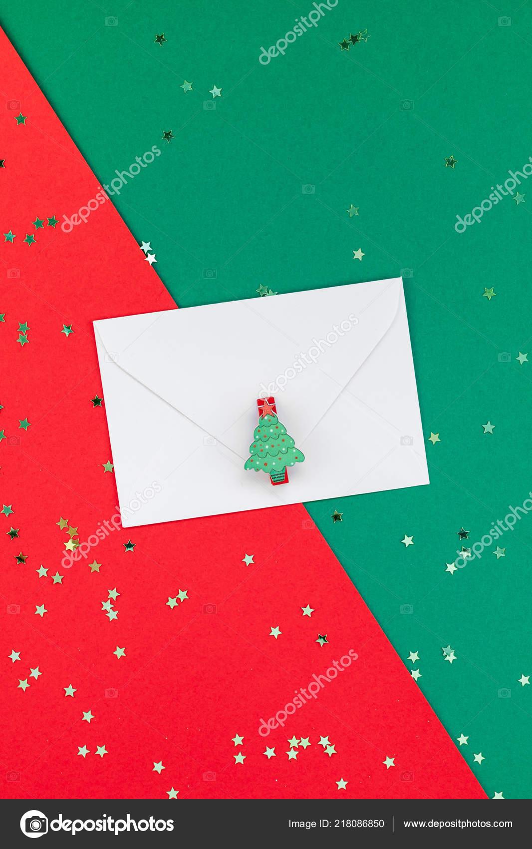 Kreative Weihnachten Oder Neujahr Grüße Brief Mock Flach Legen